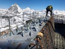 Baustelle beim Kleinmatterhorn
