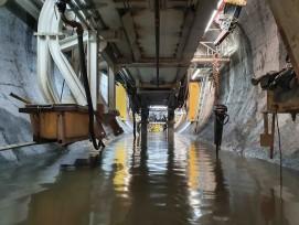 Wasseraufstau in Hochwasserentlastungsstollen bei Alpnach