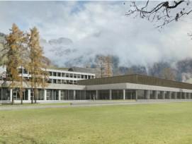 Visualisierung neue Dreifachturnhalle in Engelberg OW