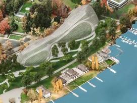 Visualisierung Seepark bei Mythenstrasse in Zürich