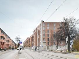 Neubauprojekt Baugenossenschaft Oberstrass Winterthurerstrasse Zürich