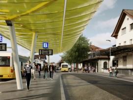 Visualisierung Umbau Bahnhof Sursee
