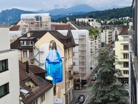 Klimaschutz-Wandbild in Stadt Luzern