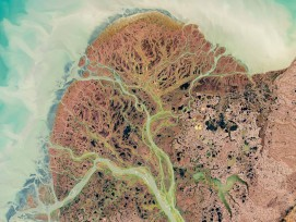 Satellitenbild des Yukon-Delta von 2002