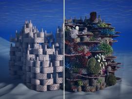 Ton-Häuser 3D-Drucker Korallen