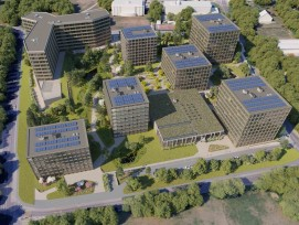 Visualisierung Green Village in Genf von Implenia