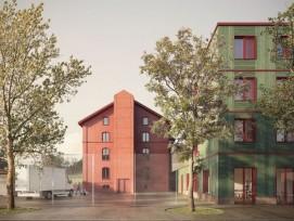 Visualisierung Siegerprojekt für Strafanstalt Gmünd in Teufen AR
