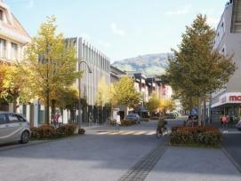 Visualisierung Umgestaltung Bahnhofstrasse im Bezirk Küssnacht