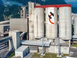 Holcim-Zementwerk in Untervaz