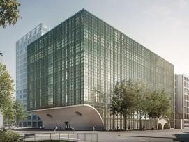Visualisierung Neubau für Departement Biomedizin der Uni Basel