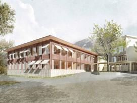 Visualisierung Neubau Primarschulhaus in Kerns OW