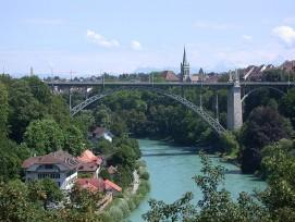 Kornhausbrücke in der Stadt Bern