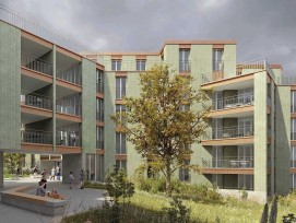 Visualisierung Ersatzneubau Wohnsiedlung Salzweg Zürich-Altstetten