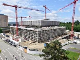 Neubau Kantonsspital Baden im August 2021