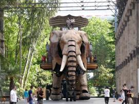 Mechanischer Elefant bei der Les Machines de L'île