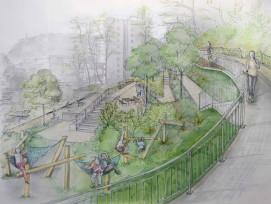 Visualisierung Fluhmühlepark Stadt Luzern