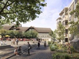 Visualisierung Generationenprojekt Buchrain Dorf Gemeindehaus