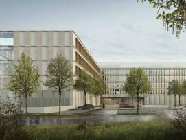Visualisierung neues Polizeizentrum Niederwangen Zugang
