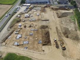 Ausgrabung Gräberfeld in Denges Kanton Waadt