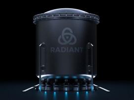 Visualisierung portabler Mikro-Reaktor von Radiant Nuclear