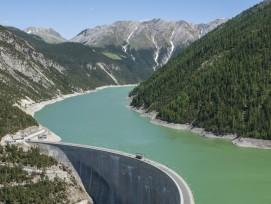 Staumauer Punt da Gall am Lago di Livigno