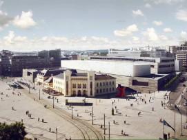 Das Museum passt sich von der Höhe seiner Umgebung an. (PD)