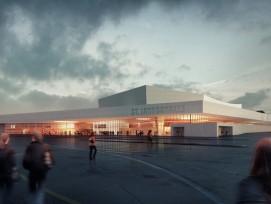 Visualisierung der neuen St. Jakobshalle.  (zvg)