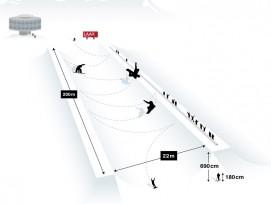 Die neue Halfpipe (OTS.Bild/Medienstelle LAAX/Weisse Arena Gruppe)
