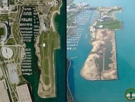 Northerly Island 2009 und 2014 (zvg)