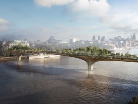 Visualisierung Garden Bridge in London