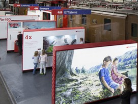 """Ausstellung """"Energieeffizienz auf Schienen"""" (SBB)"""