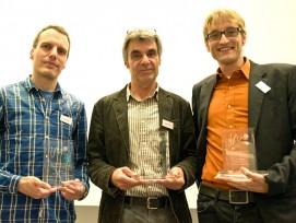 Die Preisträger (v.l.n.r.): Michael Staub, Roger Strässle und Stefan Kühnis. (Foto Ch. Hilbrand)
