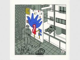 «Corbusier», Portfolio «Trafic», 2011, Siebdruck (Joost Swarte, Cartoonmuseum Basel)