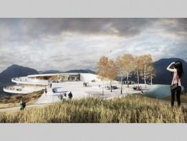 Das Siegerprojekt: eine Plattform auf dem Berg (Quelle: snohetta.com)
