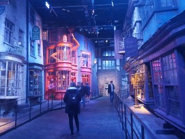 Winkelgasse in den Warner Bros. Studios in London
