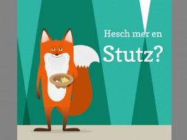 Sammelfuchs Lucky, der Botschafter der Crowdfunding-Kampagne des Tierparks Goldau. (Bild zvg)