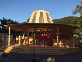 Kulturkuppel am Bahnhofplatz: In Anlehnung an Mario Botta und seine Kuppel entstand das Bistro de la Presse. (Alle Fotos: Charles Vanhouteghem)