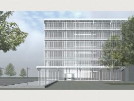 So soll der Komax-Neubau in Dierikon LU aussehen. (Visualisierung zvg)
