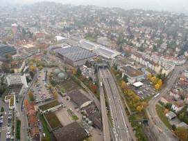 Östlich des Rosenbergtunnels soll die Autobahn überdacht werden. (loftmynd.ch)