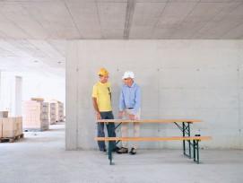 Merceano Freixo (links) und Gian Reto Lazzarini: Zum Glück ist der Verunfallte heute wieder voll einsatzfähig.