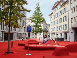 Roter Platz in Wil, St. Margrethen in St. Gallen