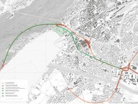 Der Alternativ-Vorschlag des offiziellen Westast-Projekts in Biel sieht für den Tunnel eine andere Linienführung vor.