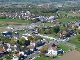 Bypass Thun Nord mit Alpenbrücke und Turbokreisel Glättimüli.