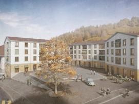 So soll das neue Dorfzentrum der Gemeinde Entlebuch aussehen.