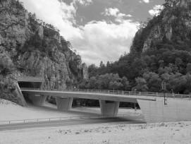 Autobahnbrücke der Transjurane bei Choindez JU.