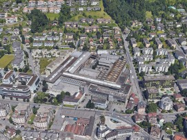 Das ehemalige Fabrikareal der Firma Andritz Hydro in Kriens.