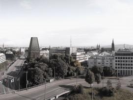 Geplantes Hochhaus an der Heuwaage im Kanton Basel-Stadt.