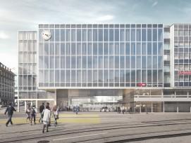 So soll der neue Bahnhofzugang Bubenberg (Mitte) am Berner Hauptbahnhof dereinst aussehen.