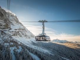 Die neue Seilbahn auf die Zugspitze in Garmisch-Partenkirchen.