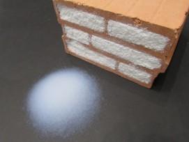 Aerobrick: Ein mit Aerogel gefüllter Ziegelstein.